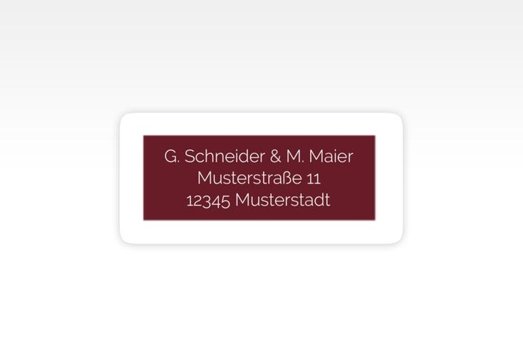 """Absenderetikett Hochzeit """"Simply"""" 45,7 x 21,2 mm rot"""