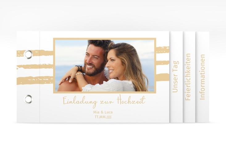 """Hochzeitseinladung """"Mare"""" Booklet"""