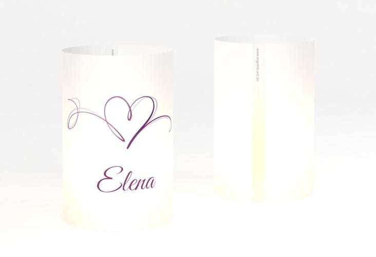 """Windlicht Hochzeit """"Envie"""" Windlicht lila"""