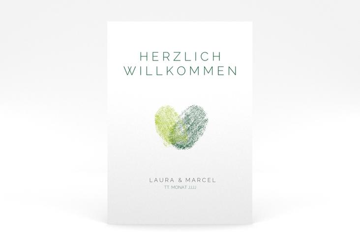"""Willkommensschild Poster """"Fingerprint"""" 50 x 70 cm Poster gruen"""