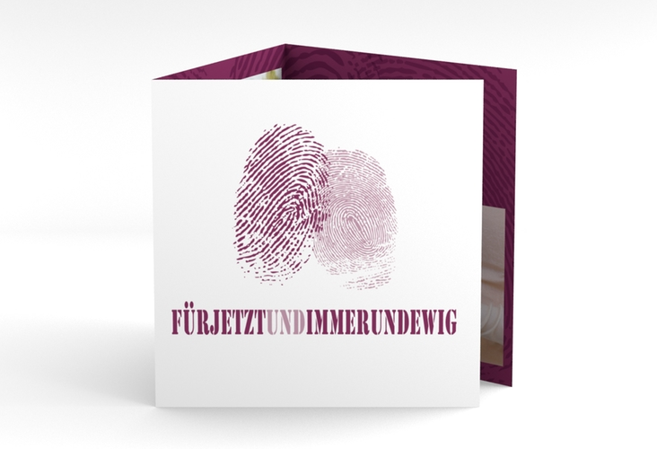 "Dankeskarte Hochzeit ""Messina"" Quadr. Karte doppelt"