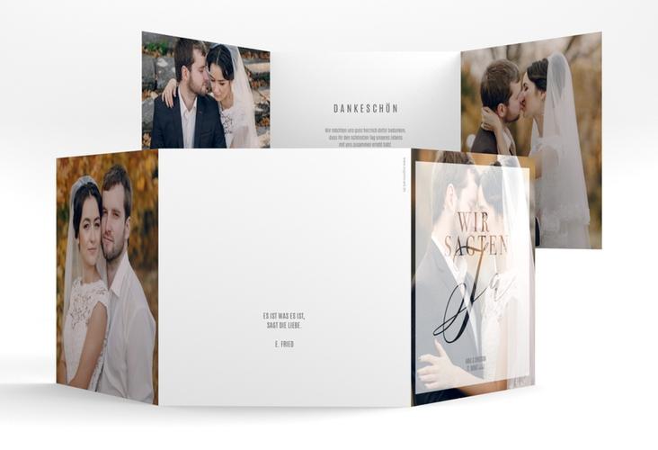 "Danksagungskarte Hochzeit ""Amazing"" Quadr. Karte doppelt"