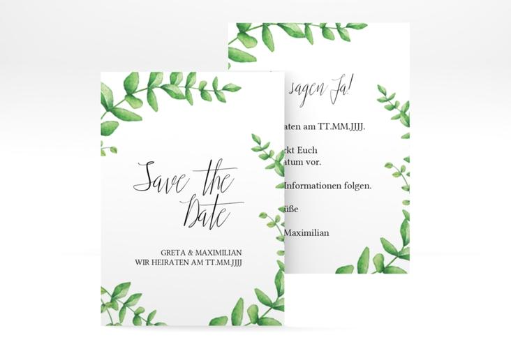"Save the Date-Visitenkarte ""Botanic"" Visitenkarte"