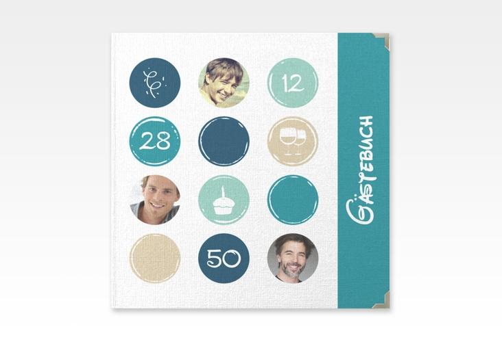 "Gästebuch Selection Geburtstag ""Circles"" Hardcover tuerkis"