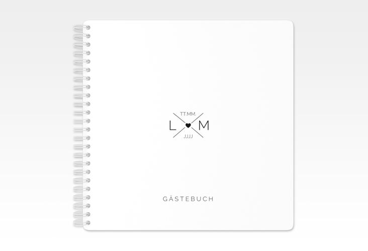 """Gästebuch Hochzeit """"Initials"""" Ringbindung"""