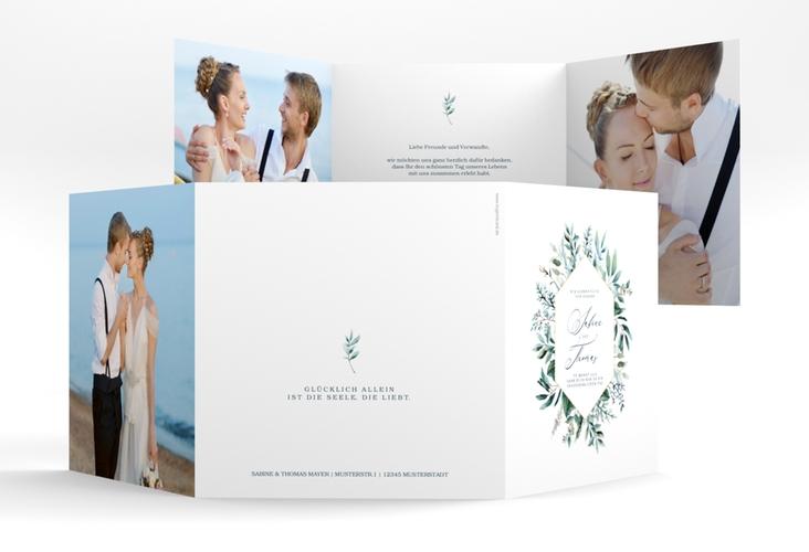"""Danksagungskarte Hochzeit """"Lumiere"""" Quadr. Karte doppelt weiss"""