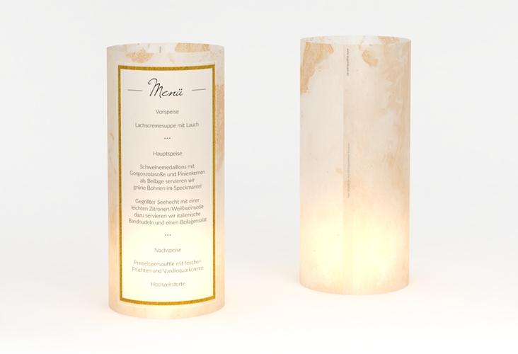 """Windlicht Menü Hochzeit """"Marble"""" Windlicht beige"""
