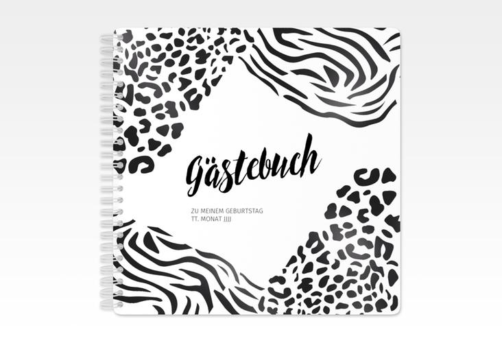 "Gästebuch Geburtstag ""Wild"" Ringbindung weiss"