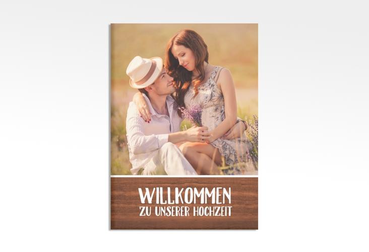 """Willkommensschild Hochzeit """"Landliebe"""" 50 x 70 cm Leinwand braun"""