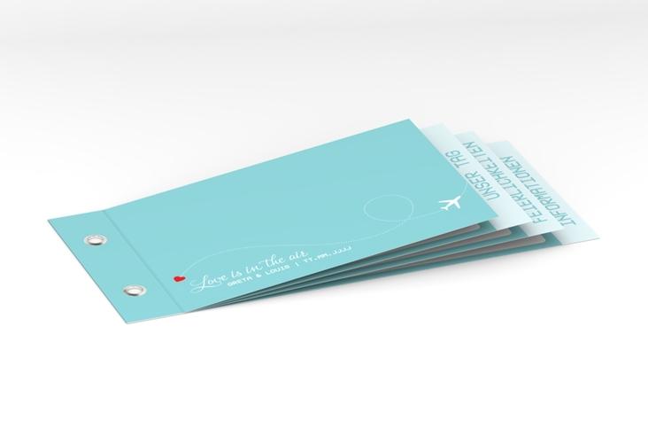 """Hochzeitseinladung """"Weddingpass"""" Booklet blau"""
