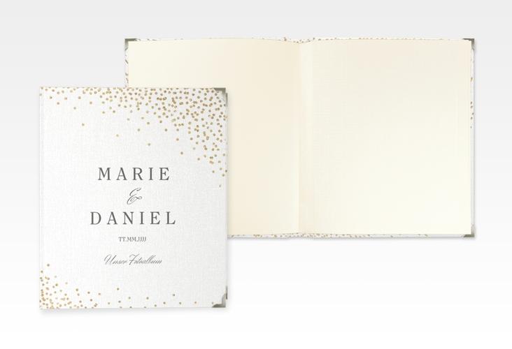 """Hochzeitsalbum """"Glitter"""" 21 x 25 cm weiss"""