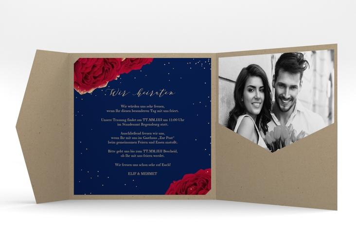 """Hochzeitseinladung """"Cherie"""" Pocketfold"""