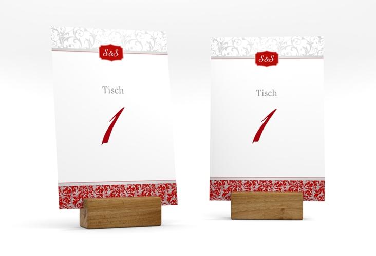 """Tischnummer Hochzeit """"Latina"""" Tischaufsteller rot"""