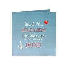 """Hochzeitseinladung """"Ehehafen"""""""