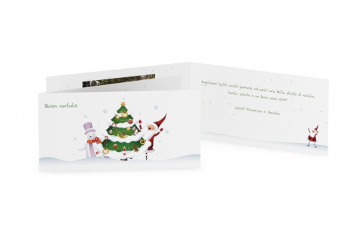Biglietti natalizi natale DIN lang Klappkarte