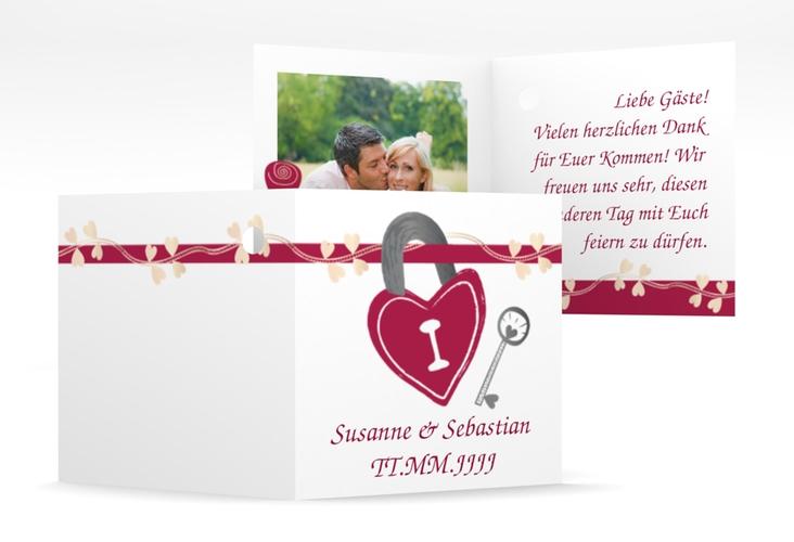 """Geschenkanhänger Hochzeit """"Oviedo"""" Geschenkanhänger 10er Set pink"""