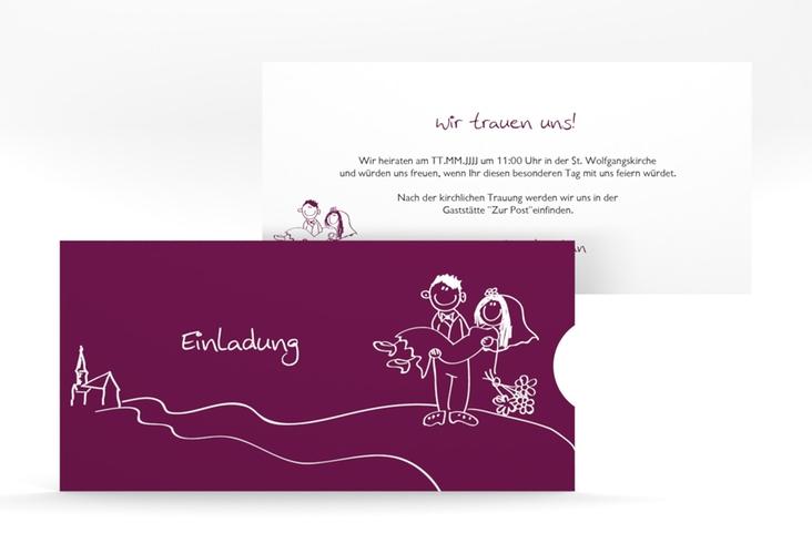 """Hochzeitseinladung """"Pisa"""" Einsteckkarte"""