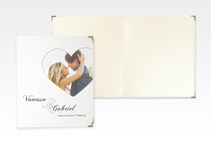 """Hochzeitsalbum """"Sweetheart"""" 21 x 25 cm weiss"""