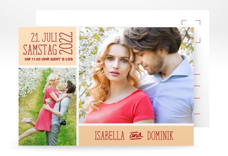 "Save the Date-Postkarte ""Gallery"" A6 Postkarte apricot"