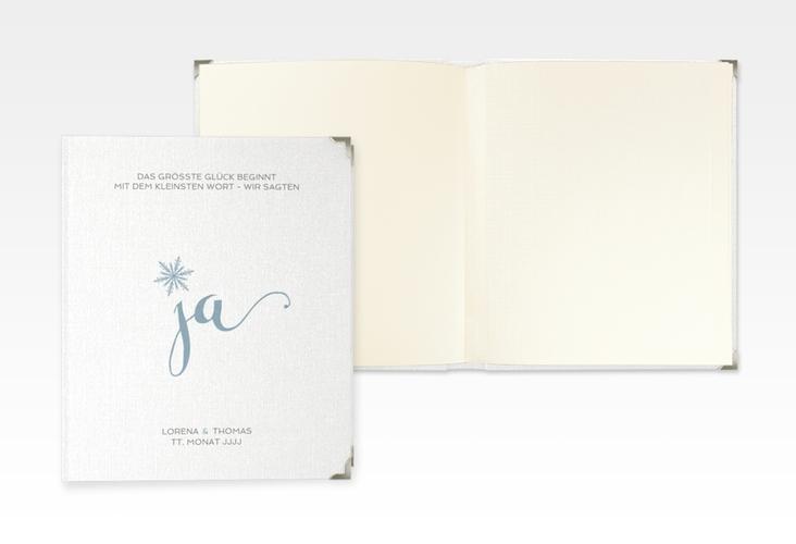 "Hochzeitsalbum ""Snowflake"" 21 x 25 cm blau"