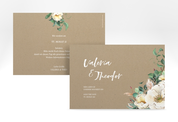 "Save the Date-Karte ""Ivory"" A6 quer beige"