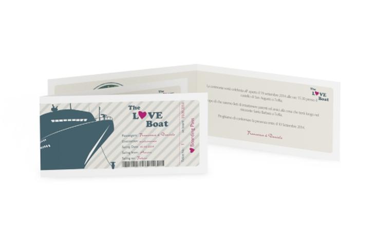 Inviti matrimonio collezione Maiorca DIN lang Klappkarte