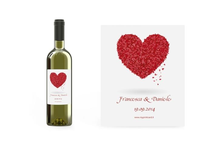 Etichette vino matrimonio collezione Colonia Etikett Weinflasche 4er Set
