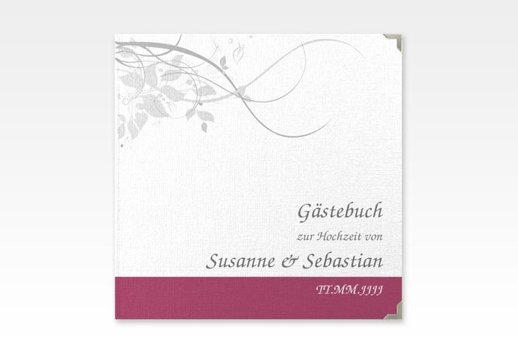 "Gästebuch Selection Hochzeit ""Florenz"" Leinen-Hardcover pink"