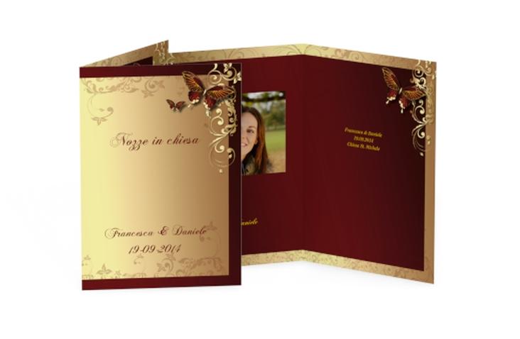 Libro messa matrimonio collezione Tolosa DIN A5 geklappt rosso