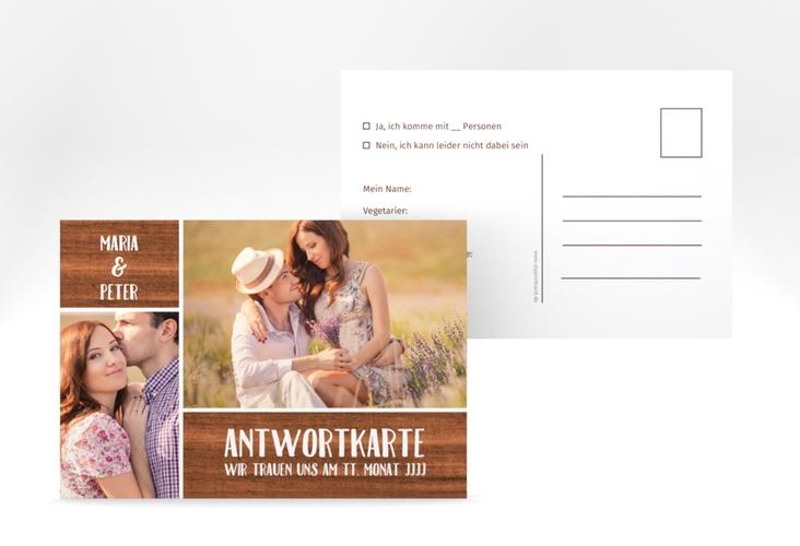 """Antwortkarte Hochzeit """"Landliebe"""" A6 Postkarte"""