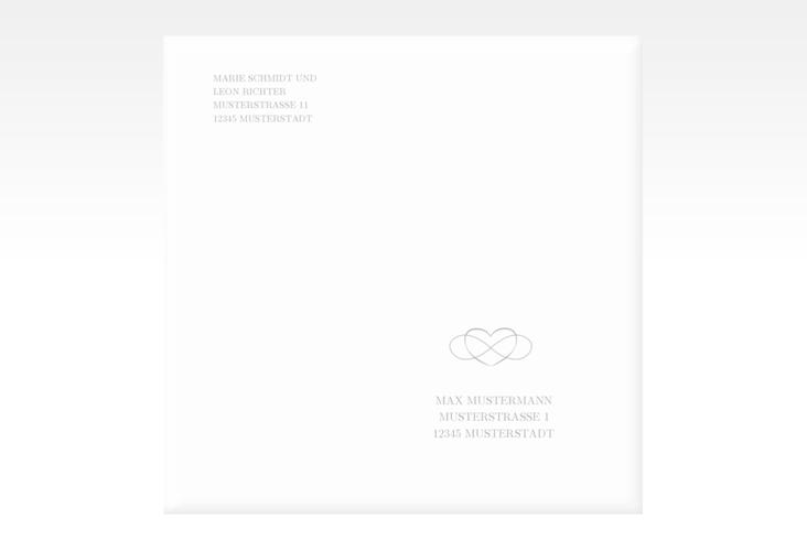 """Kuvert quadratisch """"Infinity"""" Quadratisch grau"""