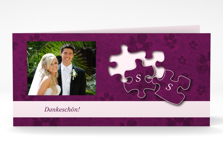 "Dankeskarte Hochzeit ""Ravensburg"" DIN lang Klappkarte"