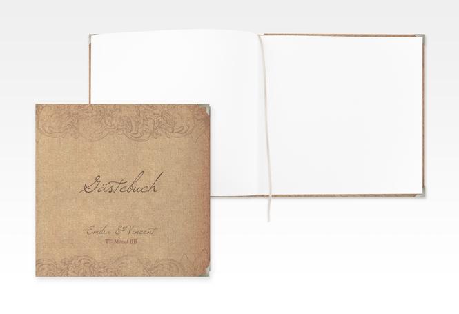 "Gästebuch Selection Hochzeit ""Fairytale"" Hardcover braun"