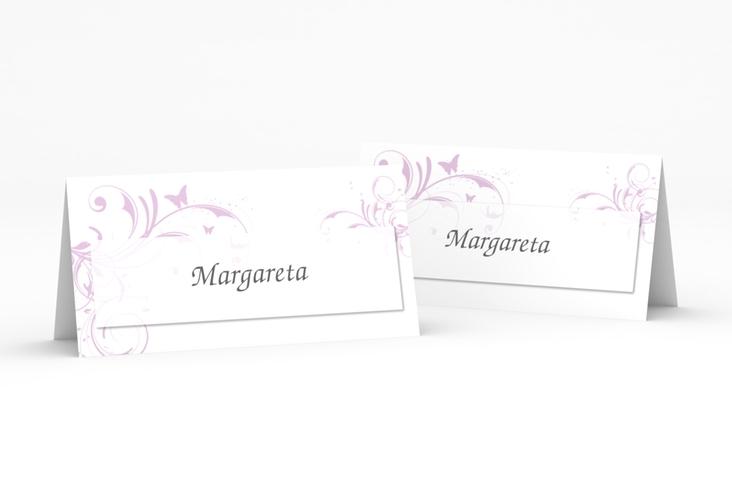"""Tischkarte Hochzeit """"Palma"""" Tischkarten flieder"""