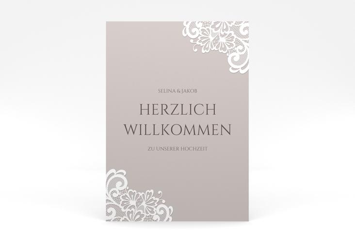 """Willkommensschild Poster """"Vintage"""" 50 x 70 cm Poster"""