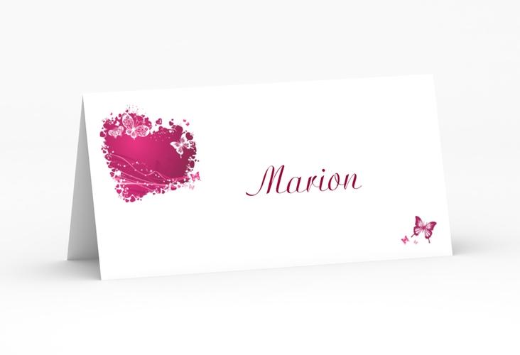 """Tischkarte Hochzeit """"Mailand"""" Tischkarten pink"""
