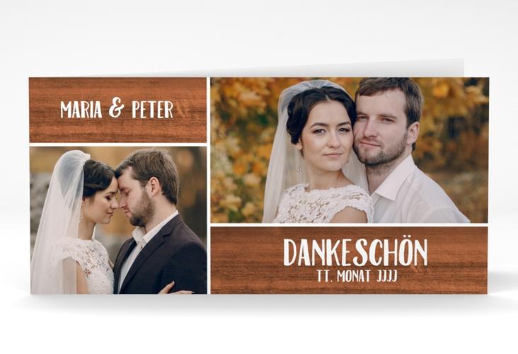 "Danksagung Hochzeit ""Landliebe"" DIN lang Klappkarte"