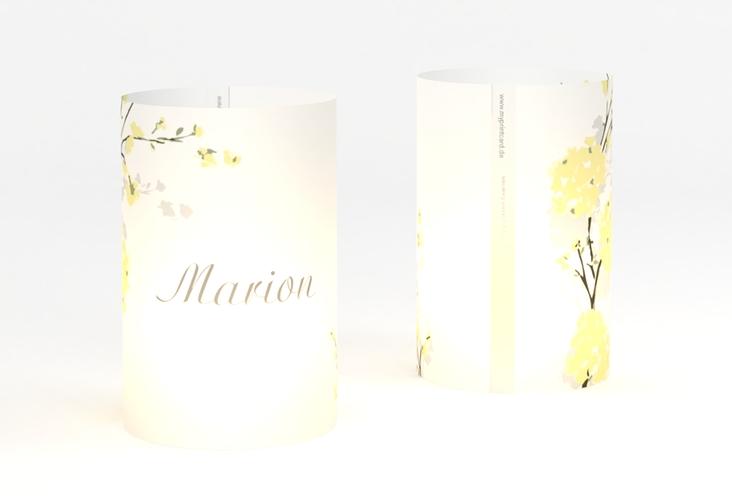 """Windlicht Hochzeit """"Salerno"""" Windlicht gelb"""