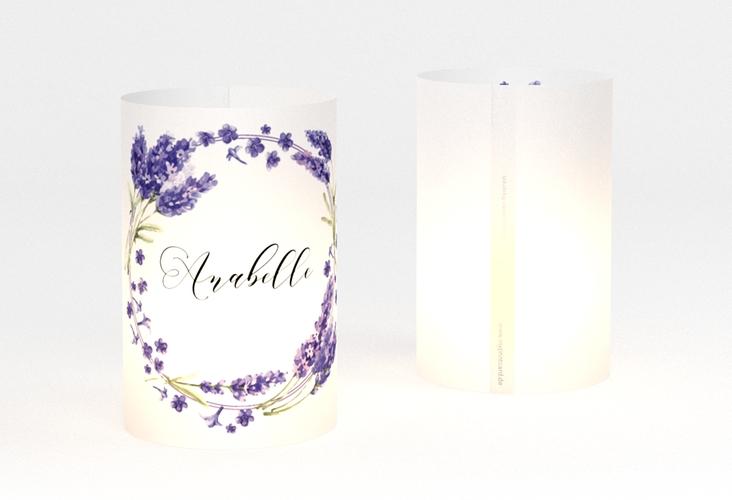"""Windlicht Hochzeit """"Lavendel"""" Windlicht weiss"""