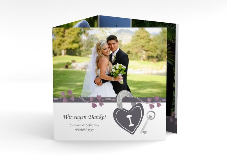 """Danksagungskarte Hochzeit """"Oviedo"""" Quadr. Karte doppelt"""