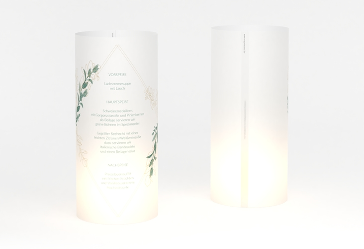 """Windlicht Menü Hochzeit """"Verde"""" Windlicht"""
