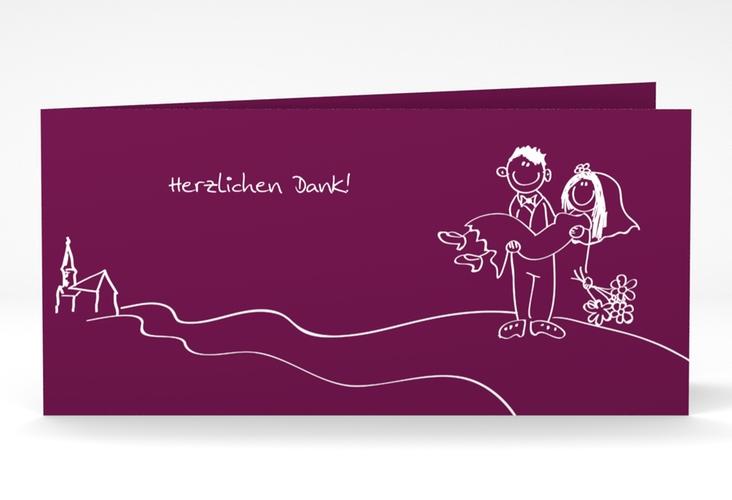 "Danksagungskarte Hochzeit ""Pisa"" DIN lang Klappkarte"