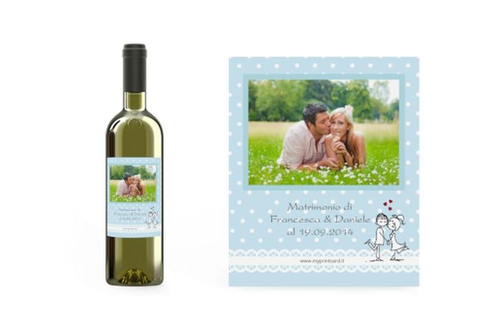 Etichette vino matrimonio collezione Berlino Etikett Weinflasche 4er Set