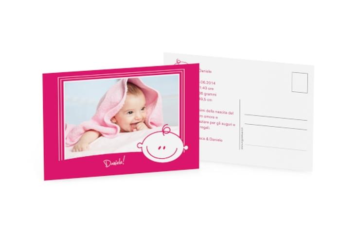 Biglietti nascita smiley A6 Postkarte