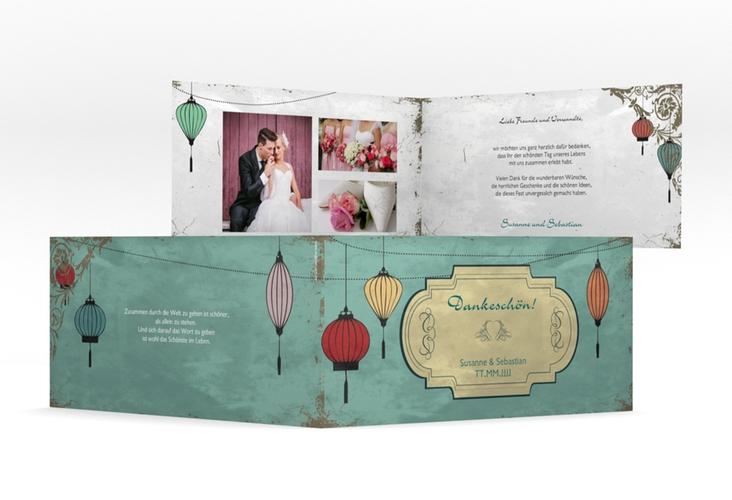 """Danksagungskarte Hochzeit """"Turin"""" DIN lang Klappkarte"""