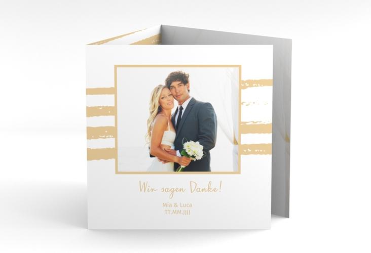 """Dankeskarte Hochzeit """"Mare"""" Quadr. Karte doppelt"""
