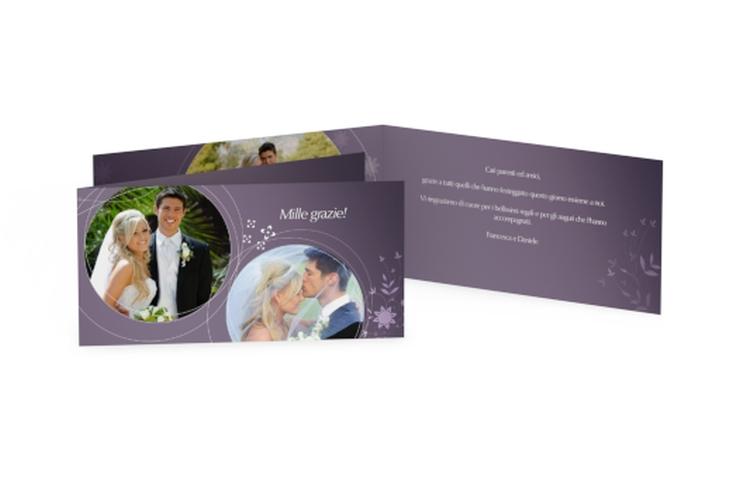 Ringraziamenti matrimonio collezione Siena DIN lang Klappkarte
