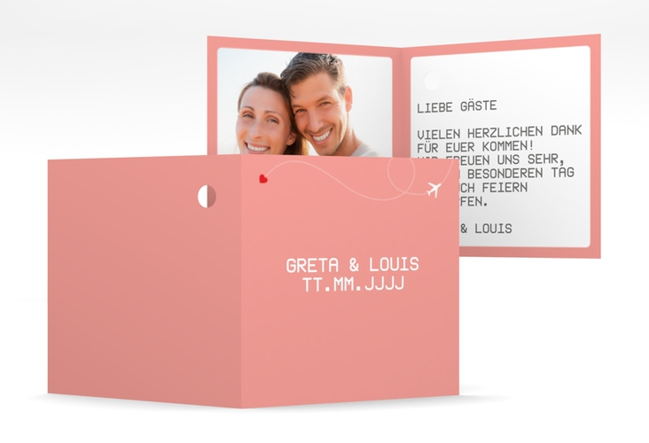"""Geschenkanhänger Hochzeit """"Weddingpass"""" Geschenkanhänger 10er Set rosa"""