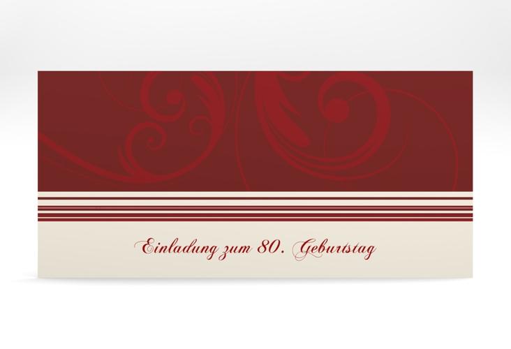 "Einladungskarte ""Katharina"" DIN lang rot"