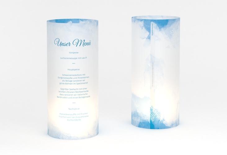 """Windlicht Menü Hochzeit """"Frozen"""" Windlicht"""